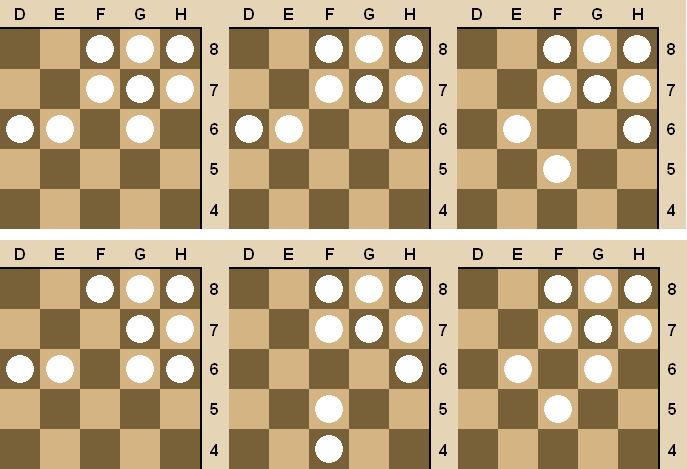 Схемы для игры в шашки
